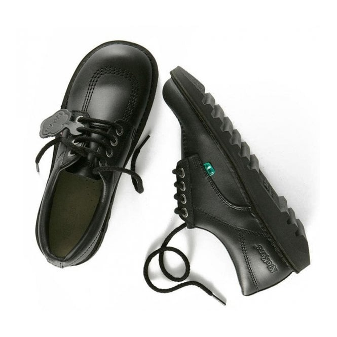 fb89fb4888835 Kick Lo Junior Leather Black, iconic lace up shoe