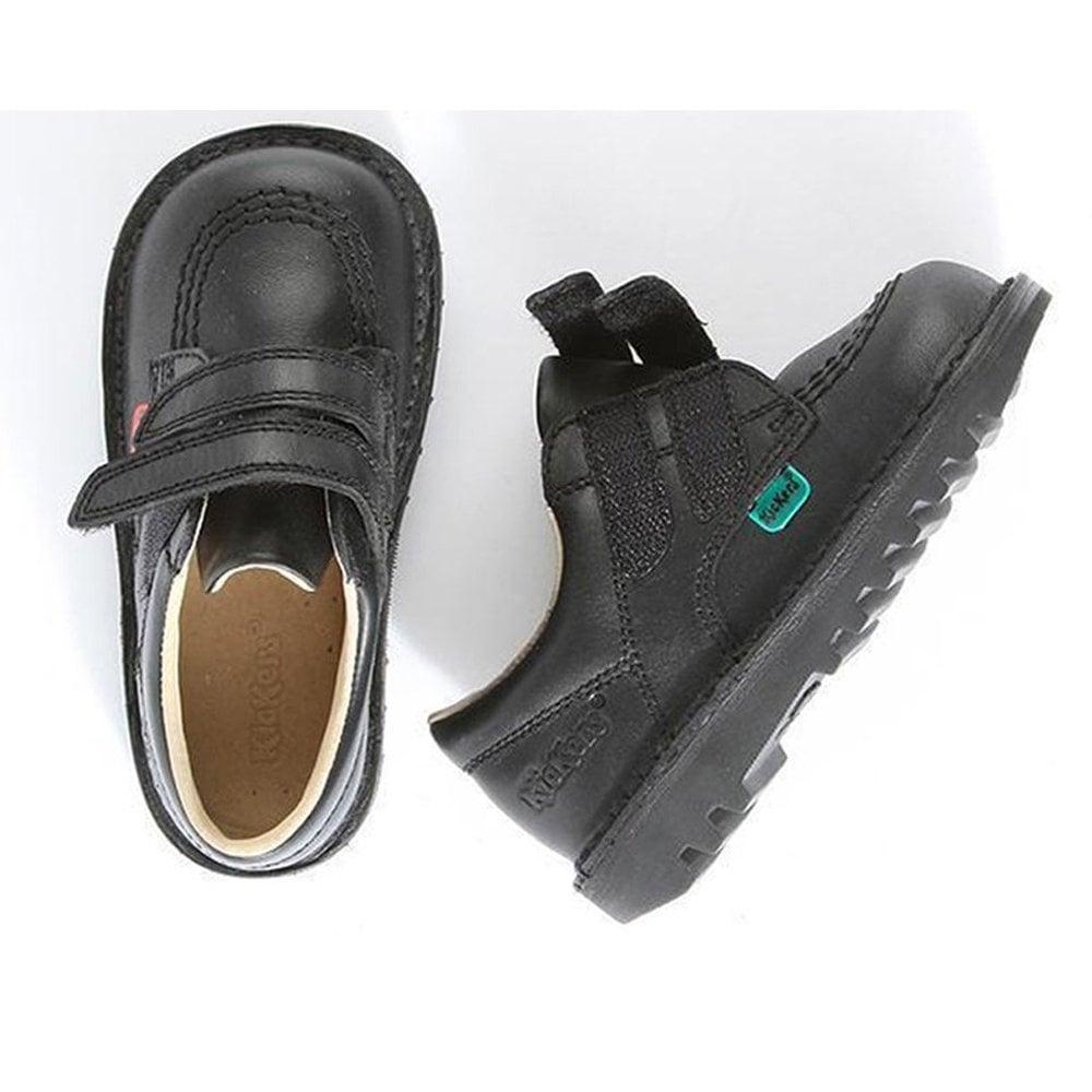 Kickers Kick Lo Velcro Black Junior