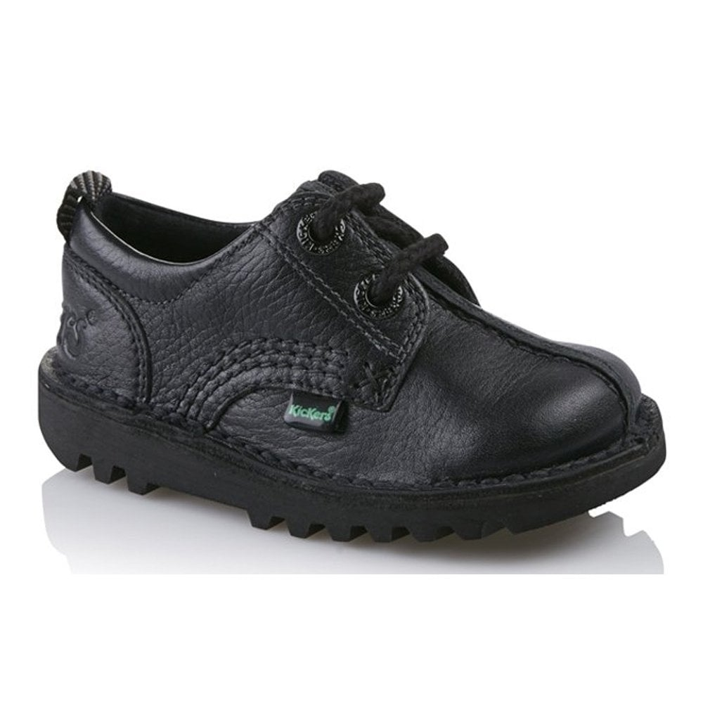 Kickers Kick Reverse Infant Shoe Black Ideal For School