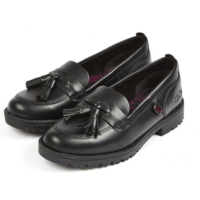Kickers Lachly Loafer Tassel Black Youth