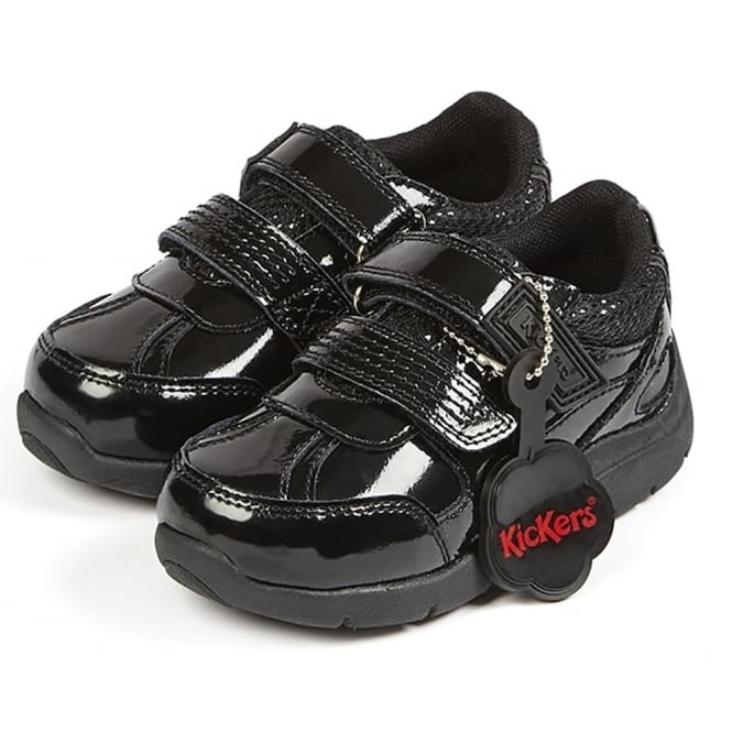 Kickers Moakie Reflex Patent Black Infant