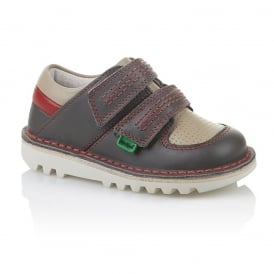 Sneakerize Lo Infant Dark Grey/Red, Athletic take on the classic Kick Lo