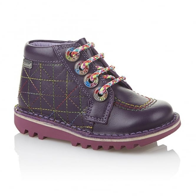 Kickers Zippy Infant Dark Purple, As fun as it is funky!