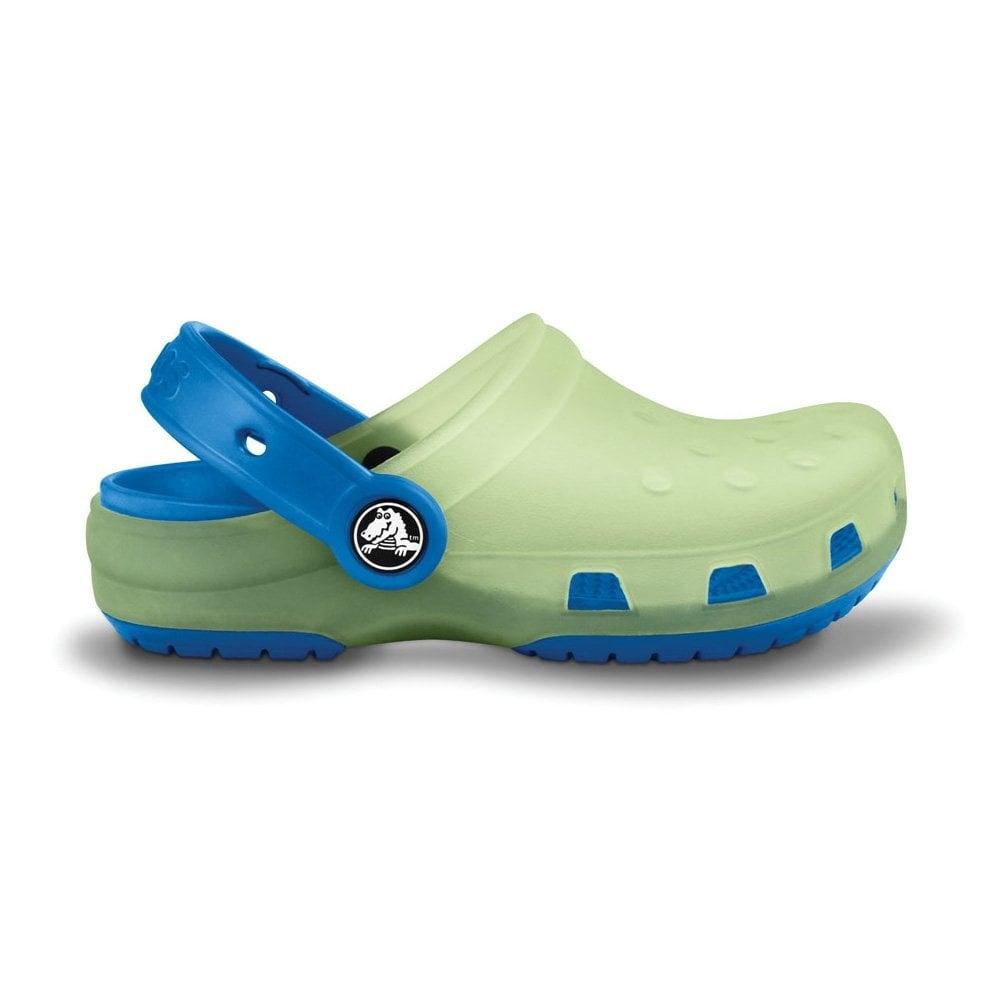 c83987e0f7f2c Crocs Kids Chameleons Translucent Clog Celery Sea Blue