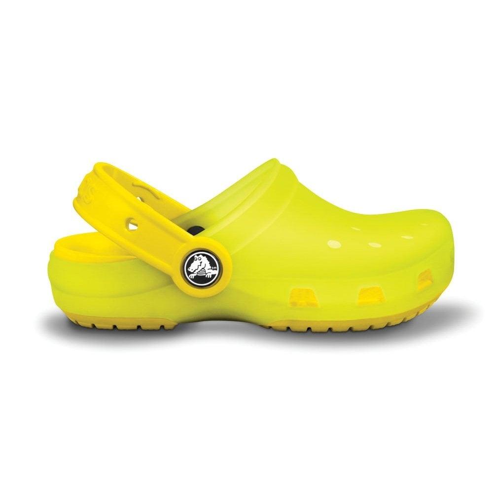 a6ea9cc773d4c Crocs Kids Chameleons Translucent Clog Lime Yellow
