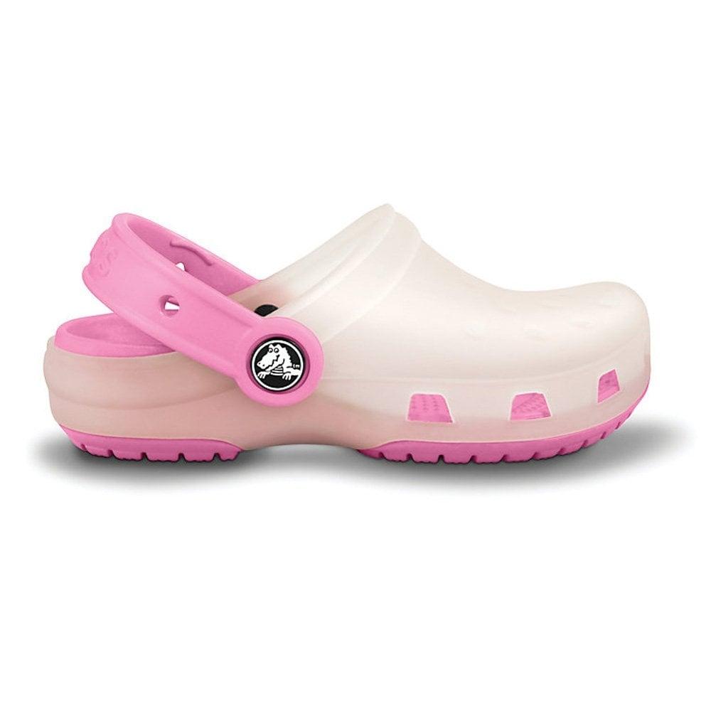 f326f159f9a72 Crocs Kids Chameleons Translucent Clog Oyster Pink Lemonade ...