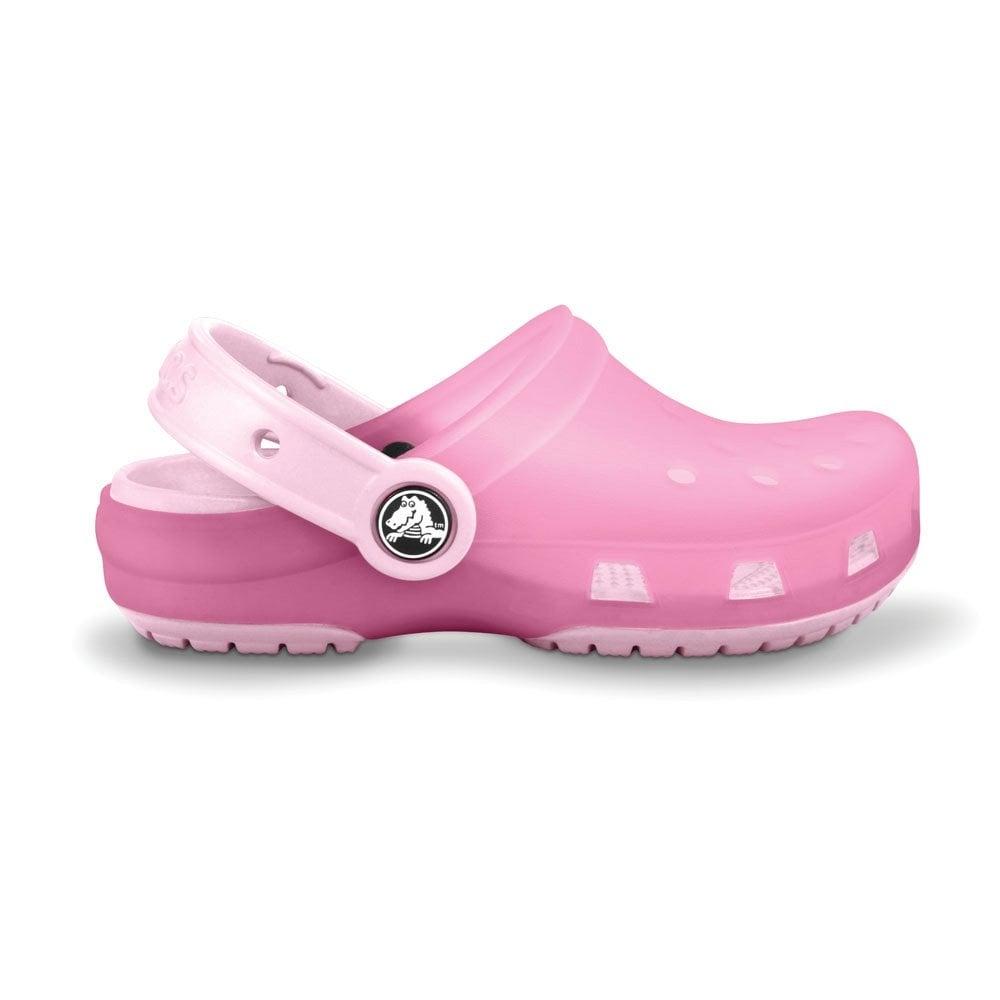 8b3389bf76eb72 Crocs Kids Chameleons Translucent Clog Pink Lemonade Bubblegum ...