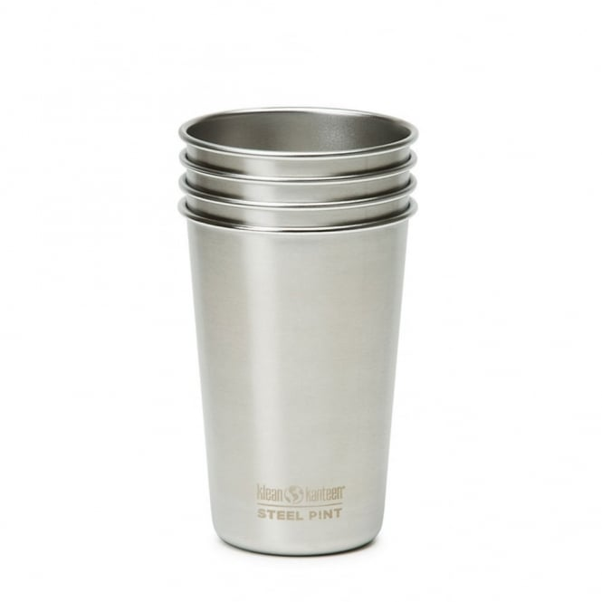 Klean Kanteen 4 Pack 473ml Pint Cup Brushed Stainless Steel