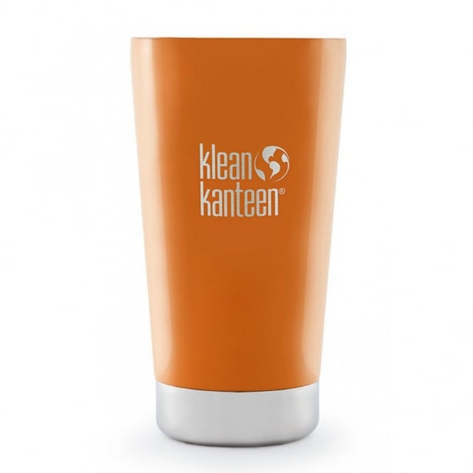 Klean Kanteen 473ml Insulated Pint Cup (USA Pint) Canyon Orange, tumbler to suit your beverage needs