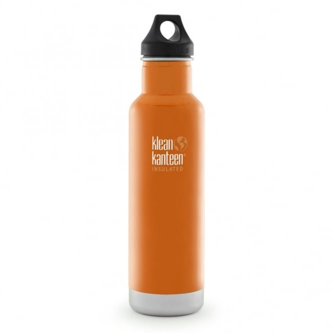 Klean Kanteen 592ml Classic Insulated Canyon Orange, Water Bottle great for on the move
