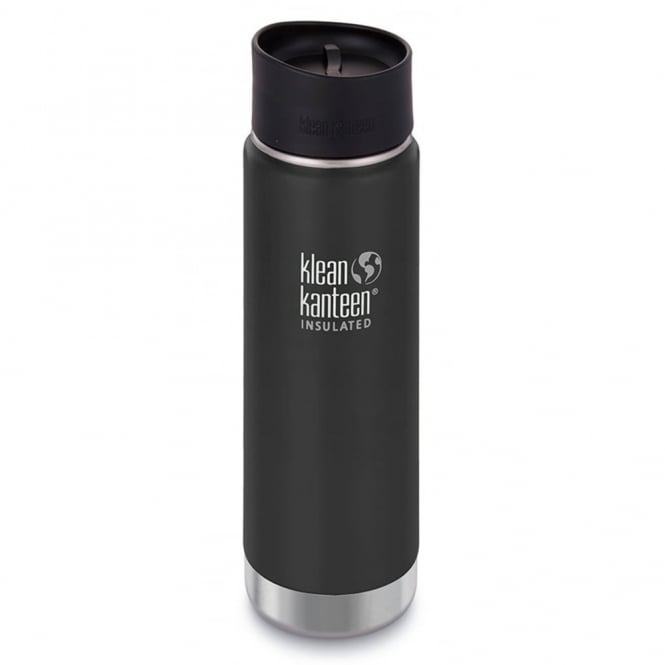 Klean Kanteen 592ml Wide Insulated Shale Black, Double-Wall Vacuum Insulated Bottle & Mug