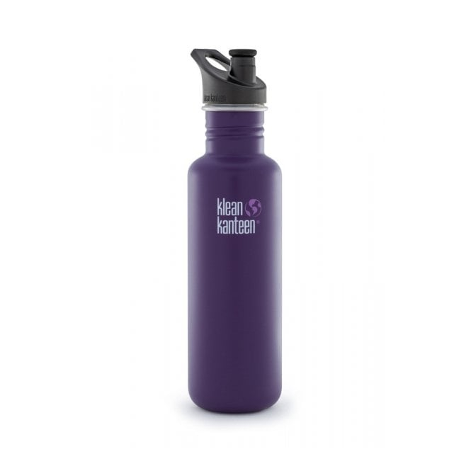 Klean Kanteen 800ml Classic Sports Cap Berry Syrup, Water Bottle great for on the move