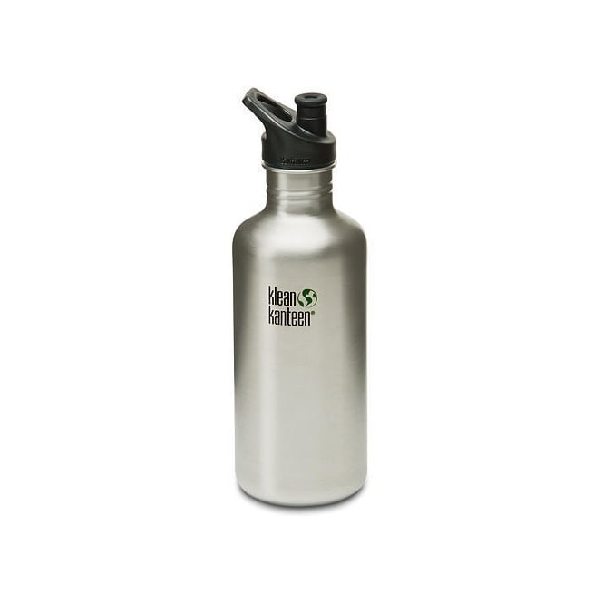 Klean Kanteen Classic 1182ml Sports Cap Brushed Stainless Steel, Water Bottle great for on the move