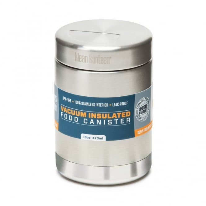 Klean Kanteen Food Canisters Insulated 473ml Stainless Steel, leak-proof, airtight food canister