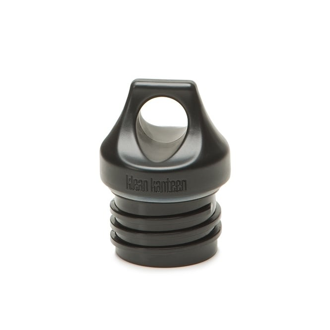 Klean Kanteen Loop Cap Black, Interchangeable with all Kanteen® Classic sizes