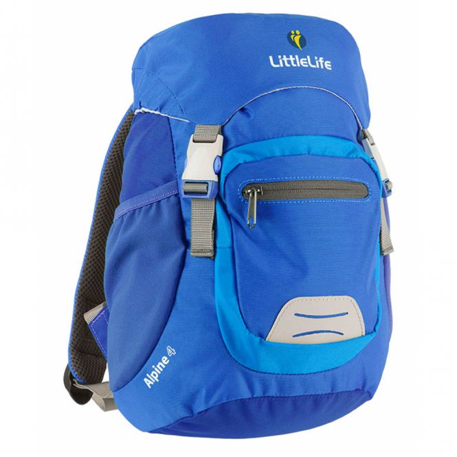LittleLife 12211 Alpine 4 Kids Daysack Blue, miniature mountain rucksack