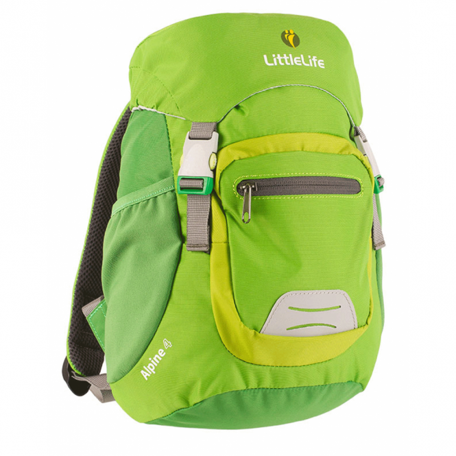 LittleLife 12213 Alpine 4 Kids Daysack Green, miniature mountain rucksack