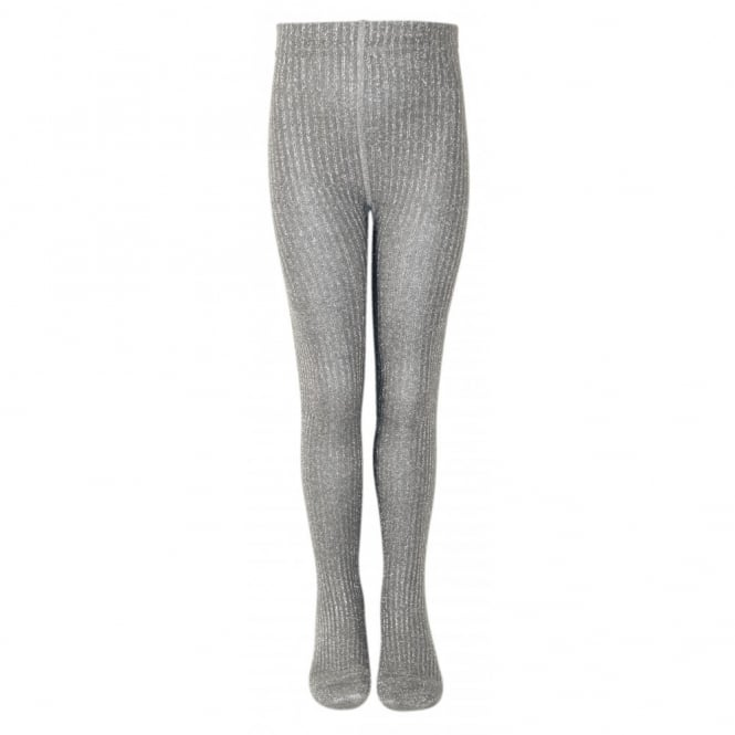 Melton Tights Classic Mary Rib 130 Frost Grey, Glitter and shine with these lovely lurex tights