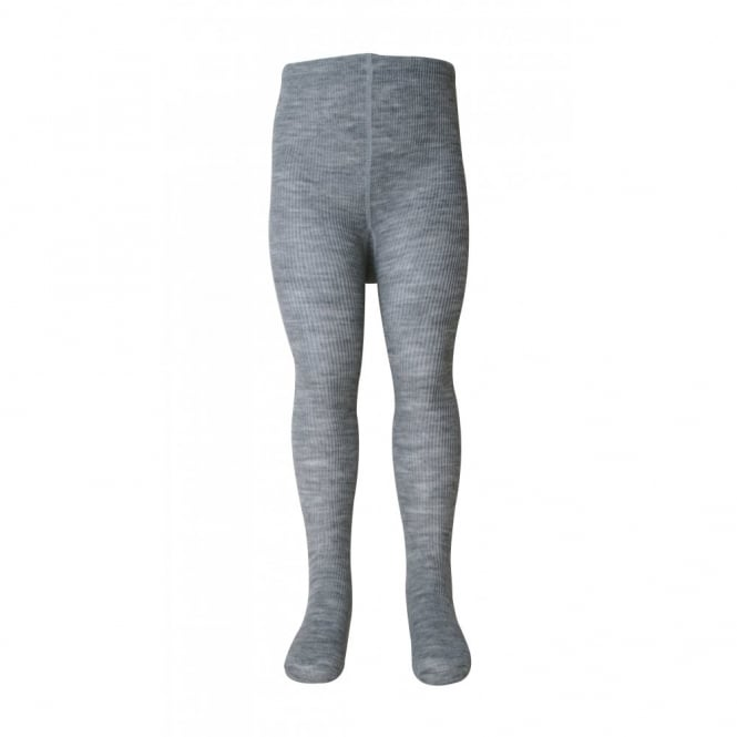 Melton Tights Classic Wool Cotton 135 Light Grey Melange, Wool tights with cotton inner lining