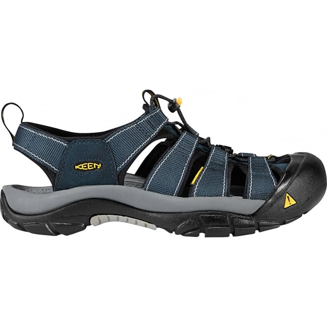 KEEN Mens Newport Navy/Medium Grey, the original sandal with secure fit strap and toe bumper