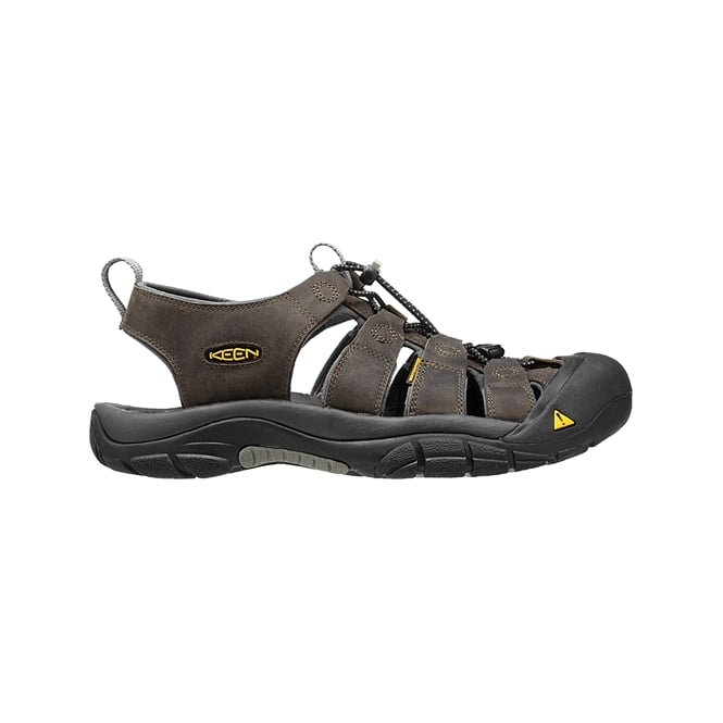 KEEN Mens Newport Neutral Grey/Gargoyle, the original sandal with secure fit strap and toe bumper