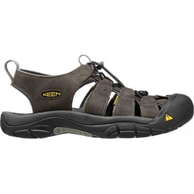 Mens Newport Neutral Grey/Gargoyle, the original KEEN sandal with secure fit strap and toe bumper