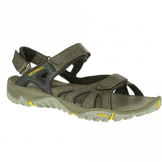 Merrell Mens All Out Blaze Sieve Convertible Olive, the sandal built for the wettest conditions