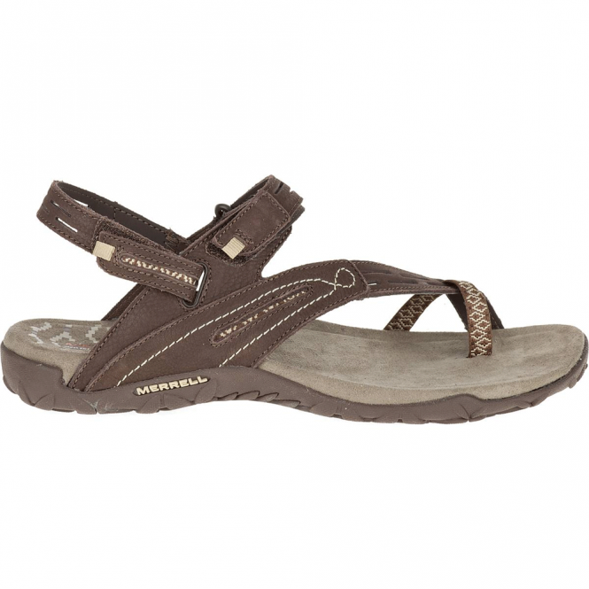 Merrell Terran Convertible II Dark Earth, breathable mesh & leather sandal