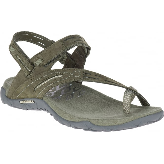 Merrell Terran Convertible II Dusty Olive, breathable mesh & leather sandal