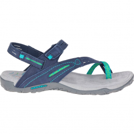 Terran Convertible II Navy, breathable mesh & leather sandal