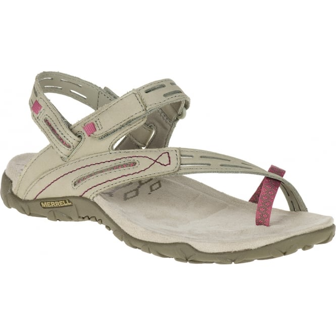 Merrell Terran Convertible II Taupe, breathable mesh & leather sandal