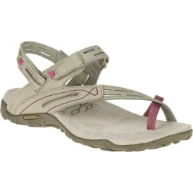 Terran Convertible II Taupe, breathable mesh & leather sandal