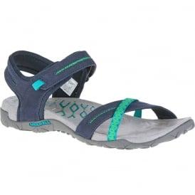 Terran Cross II Navy, breathable mesh & leather sandal