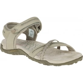 Terran Cross II Taupe, breathable mesh & leather sandal