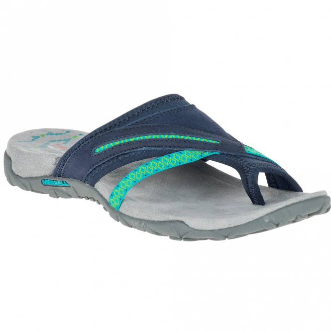 Merrell Terran Post II Navy, breathable mesh & leather sandal