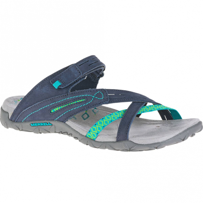Merrell Terran Weave II Navy, breathable mesh & leather sandal