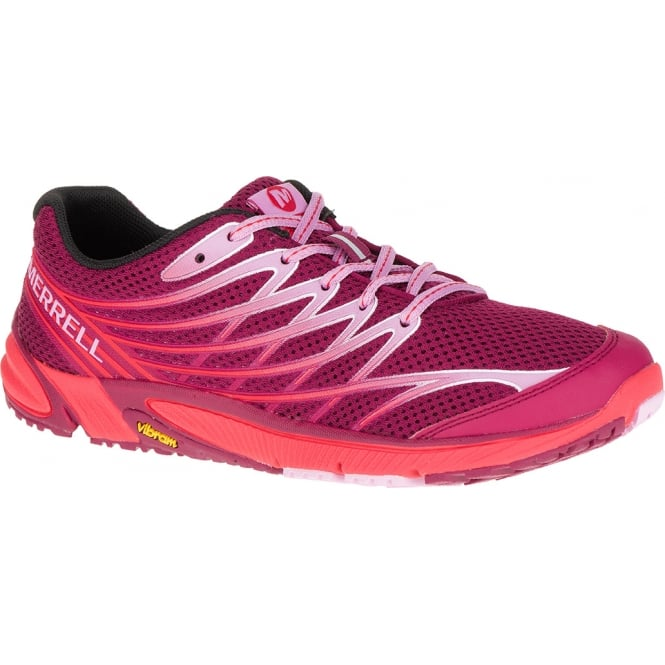 Merrell Womens Bare Access Arc 4 Bright Red, Zero drop running shoe