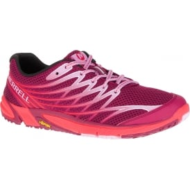 Womens Bare Access Arc 4 Bright Red, Zero drop running shoe
