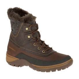 Womens Sylva Mid Lace WP Potting Soil, waterproof lace up boot