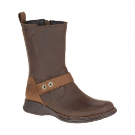 Womens Travvy Mid WP Clay, waterproof leather ankle boot