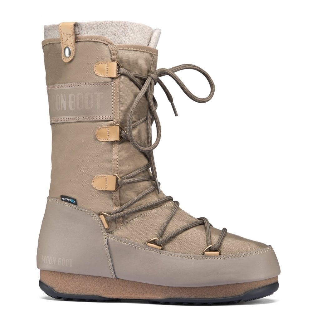 newest ce469 b7df5 Moon Boots Monaco Felt Sand, Waterproof Iconic Boot