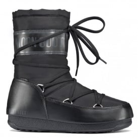Moon Boots Soft Shade MID Black, Waterproof Iconic Boot