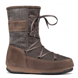 Moon Boots Vienna Mix Olive Green, Waterproof Iconic Boot