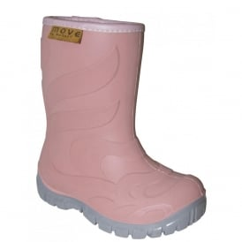 Move Thermo Boots Dark Rose, Warm lined lightweight kids boot