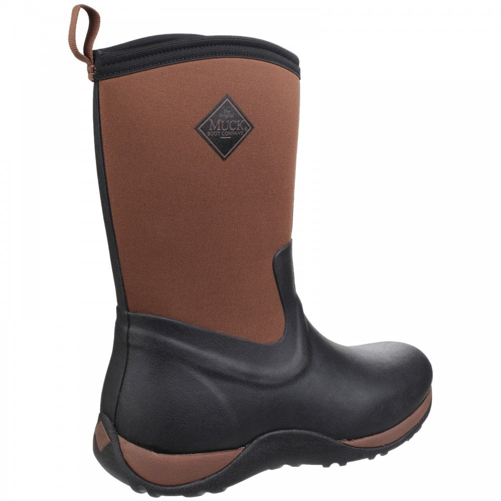 Muck Boots Arctic Weekend Womens Wellies Black Tan All Sizes