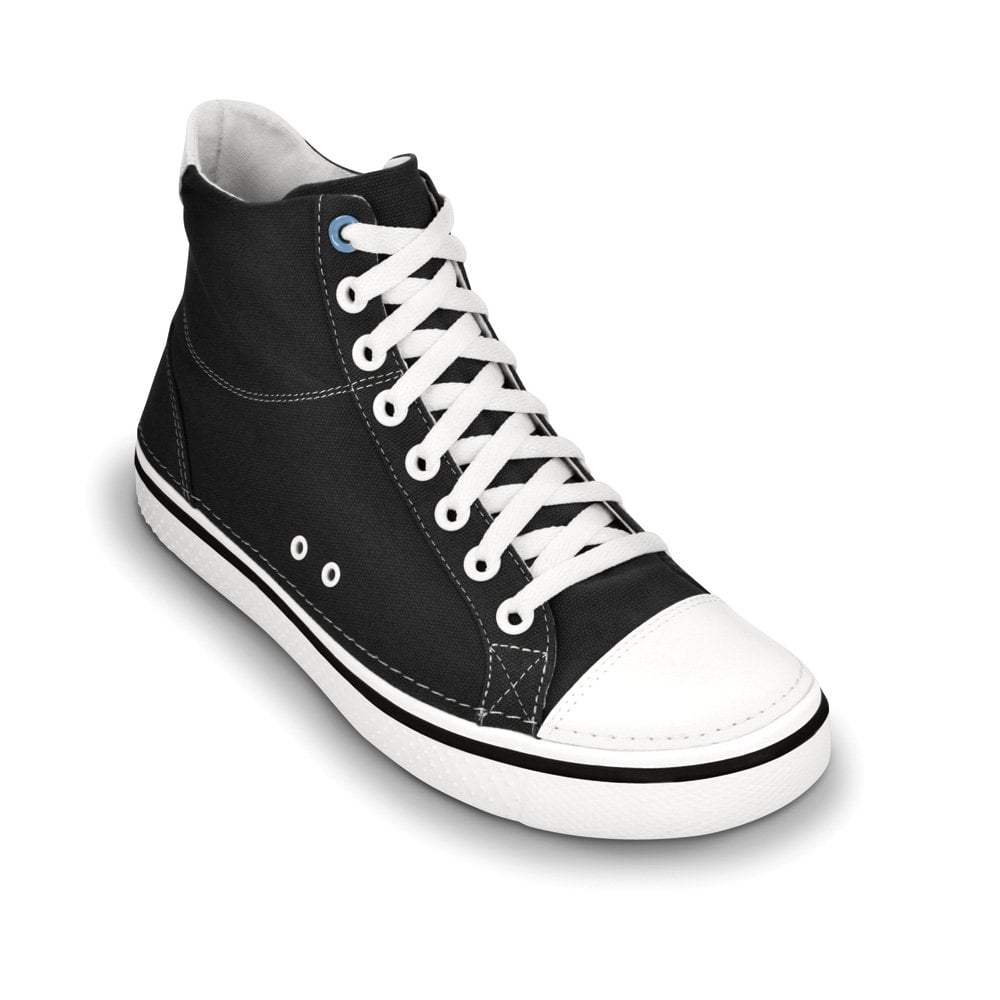 Crocs Hover Mid Black, Casual hi-top trainer style shoes ...