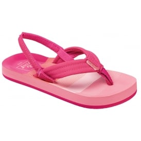 Reef Kids Flip flop Little AHI Pink Stripes, kids summer flip