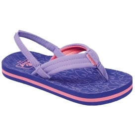 Reef Kids Flip flop Little AHI Purple Hearts, kids summer flip