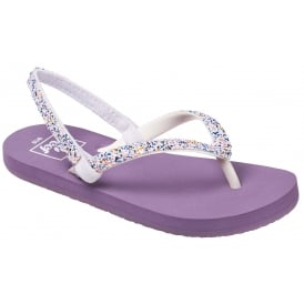 Reef Kids Flip flop Little Stargazer Funfetti Purple, kids summer flip