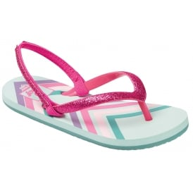 Reef Kids Flip flop Little Stargazer Mint Chevron, kids summer flip